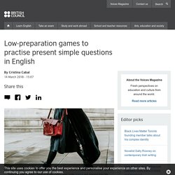 Low-preparation games to practise present simple questions in English