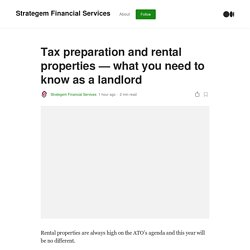 Tax preparation and rental properties — what you need to know as a landlord