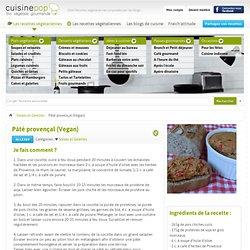 Pâté provençal (Vegan) - Steaks et Galettes