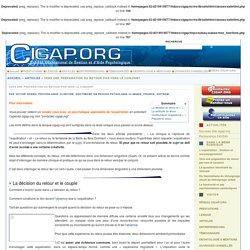 Vers une préparation du retour par/vers le conjoint - CIGAP.org - Aide psychologique en ligne partout dans le monde