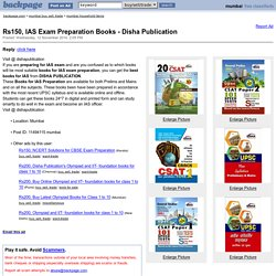 IAS Exam Preparation Books - Disha Publication - mumbai household items for sale - backpage.com