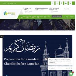 Preparation for Ramadan: Checklist before Ramadan