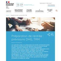 Préparation de rentrée : prévisions DHG, TRM