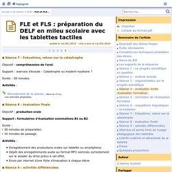FLE et FLS : préparation du DELF en mileu scolaire avec les tablettes tactiles - Page 5/5 - Espagnol