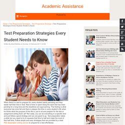 Test Preparation Strategies Every Student Needs to Know