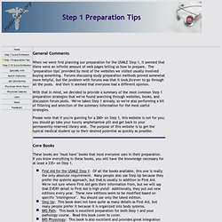 USMLE Step 1 Preparation Tips, Strategies and Resources