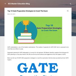 Top 10 Gate Preparation Strategies to Crack The Exam