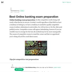 Best Online banking exam preparation