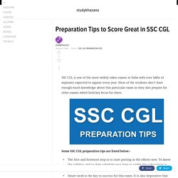 Preparation Tips to Score Great in SSC CGL