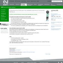 Préparation du C2i2e pour les candidats externes à l'Université Rennes 2