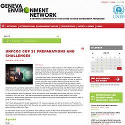 UNFCCC COP 21 Preparations and Challenges
