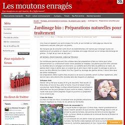Jardinage bio : Préparations naturelles pour traitement