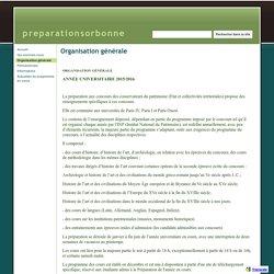 Organisation générale - preparationsorbonne