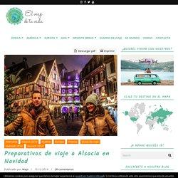 Preparativos de viaje a Alsacia en Navidad