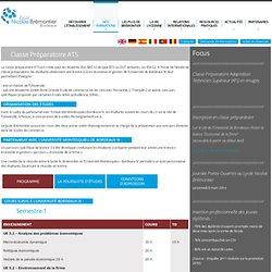 Classe Préparatoire ATS bordeaux - lycée brémontier bordeaux