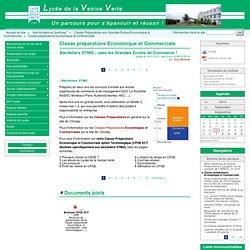 Classe préparatoire Economique et Commerciale - Site du lycée de la Venise Verte