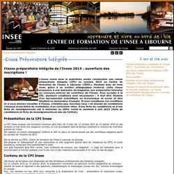 Classe préparatoire intégrée de l'Insee 2015: ouverture des inscriptions!