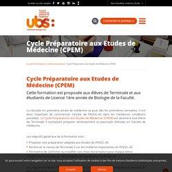 Cycle Préparatoire aux Etudes de Médecine (CPEM) - Université Bretagne Sud