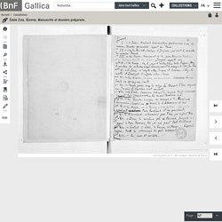 Émile Zola. Œuvres. Manuscrits et dossiers préparatoires. Les Rougon-Macquart. La Bête humaine. Dossier préparatoire.