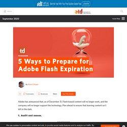5 Ways to Prepare for Adobe Flash Expiration