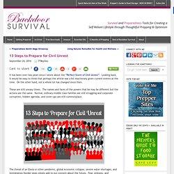 13 Steps to Prepare for Civil Unrest