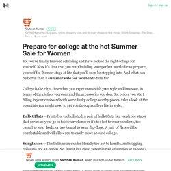 Get Summer Sale for Women