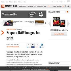 Prepare RAW images for print