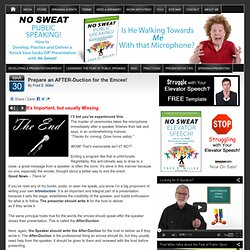 Prepare an AFTER-Duction for the Emcee! - NoSweatPublicSpeaking.com