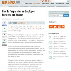 How to Prepare for an Employee Performance Review