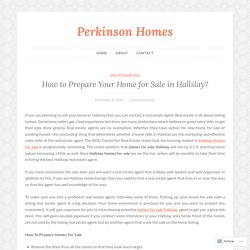 How to Prepare Your Home for Sale in Hallslay?