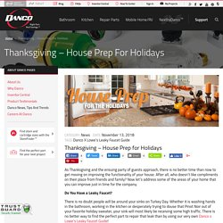 Prepare Your House for the Holidays - Danco