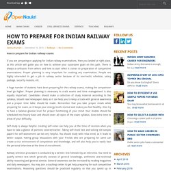 How to prepare for Indian railway exams - Open Naukri