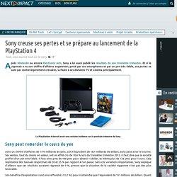 Sony creuse ses pertes et se prépare au lancement de la PlayStation 4