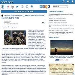17/06/2015 - L'OTAN prépare la plus grande manœuvre militaire depuis la guerre froide