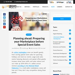 Prepare Online Marketplace Store for Holiday Events