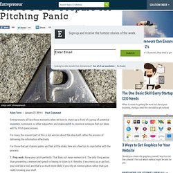 The 9 P's to Prepare for Pitching Panic