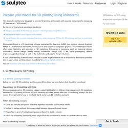 Prepare your model for 3D printing with Rhinoceros