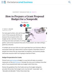 How to Prepare a Grant Proposal Budget for a Nonprofit