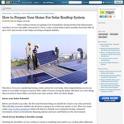How to Prepare Your Home For Solar Rooftop System