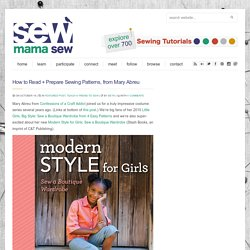 How to Read + Prepare Sewing Patterns, from Mary Abreu