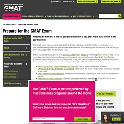 Prepare for the GMAT Exam: Study Tips, Prep Strategy & Advice