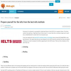 Prepare yourself for the ielts from the best ielts institute- IELTS masters