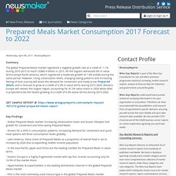 Prepared Meals Market Consumption 2017 Forecast to 2022