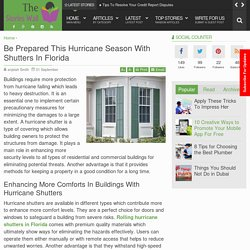 Be Prepared This Hurricane Season With Shutters In Florida