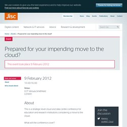 Prepared for your impending move to the cloud?