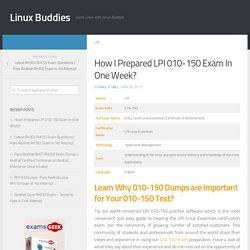 How I Prepared LPI Linux Essentials 010-150 Exam In One Week?
