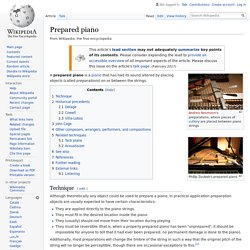 Prepared piano - Wikipedia