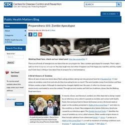 Blogs - Public Health Matters Blog – Preparedness 101: Zombie Apocalypse