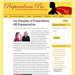 Ten Principles of Preparedness: #10 Communication