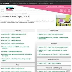 RUB. SITE CNED : Préparer le Capes, Capet, CAPLP et Capeps